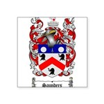 Saunders Coat of Arms Square Sticker 3