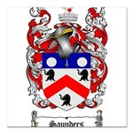 Saunders Coat of Arms Square Car Magnet 3