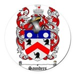 Saunders Coat of Arms Round Car Magnet