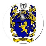 Schmidt Coat of Arms Round Car Magnet