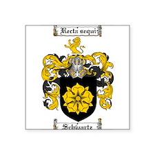 "Schwartz Coat of Arms Square Sticker 3"" x 3"""