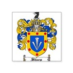 Sharp Coat of Arms Square Sticker 3