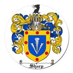 Sharp Coat of Arms Round Car Magnet