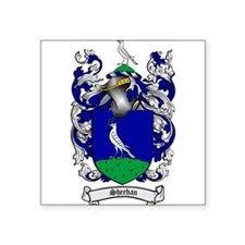 "Sheehan Coat of Arms Square Sticker 3"" x 3"""
