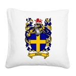 Shelton Coat of Arms Square Canvas Pillow