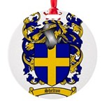 Shelton Coat of Arms Round Ornament