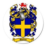 Shelton Coat of Arms Round Car Magnet