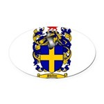 Shelton Coat of Arms Oval Car Magnet