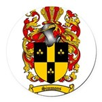 Simmons Coat of Arms Round Car Magnet