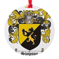Simpson Coat of Arms Ornament