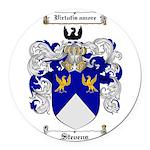 Stevens Coat of Arms Round Car Magnet