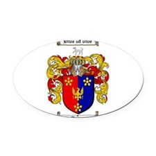 Stone Coat of Arms Oval Car Magnet