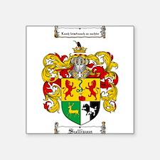 "Sullivan Coat of Arms Square Sticker 3"" x 3"""