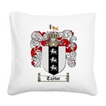 Taylor Coat of Arms Square Canvas Pillow