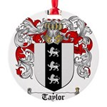 Taylor Coat of Arms Round Ornament