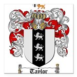 Taylor Coat of Arms Square Car Magnet 3