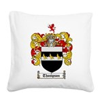 Thompson Coat of Arms Square Canvas Pillow