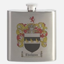 Thompson Coat of Arms Flask