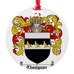 Thompson Coat of Arms Round Ornament