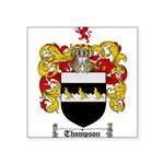 Thompson Coat of Arms Square Sticker 3