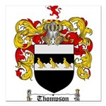 Thompson Coat of Arms Square Car Magnet 3
