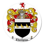 Thompson Coat of Arms Round Car Magnet