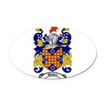 Waddell Coat of Arms Oval Car Magnet