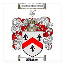 """Walsh Coat of Arms Square Car Magnet 3"""" x 3"""""""