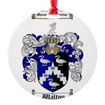 Walton Coat of Arms Round Ornament