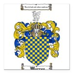 Warren Coat of Arms Square Car Magnet 3