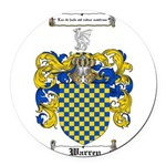 Warren Coat of Arms Round Car Magnet