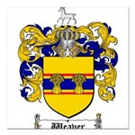 Weaver Coat of Arms Square Car Magnet 3