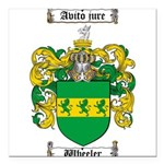 Wheeler Coat of Arms Square Car Magnet 3