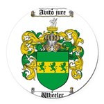 Wheeler Coat of Arms Round Car Magnet