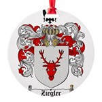 Ziegler Coat of Arms Crest Round Ornament