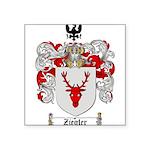 Ziegler Coat of Arms Crest Square Sticker 3