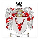 Ziegler Coat of Arms Crest Square Car Magnet 3