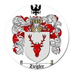 Ziegler Coat of Arms Crest Round Car Magnet