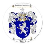 jones coat of arms Round Car Magnet