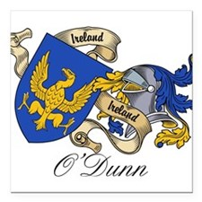 """O'Dunn Family Coat of Arms Square Car Magnet 3"""" x"""
