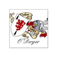 "O'Dwyer Family Crest Square Sticker 3"" x 3"""