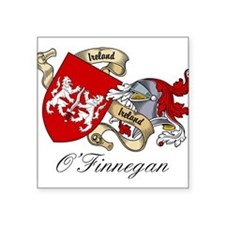 "O'Finnegan Family Crest Square Sticker 3"" x 3"""