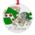 O'Kieran Famiy Crest Round Ornament