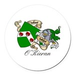 O'Kieran Famiy Crest Round Car Magnet