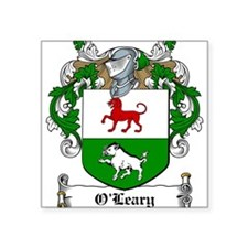"O'Leary Family Crest Square Sticker 3"" x 3"""