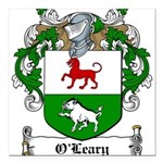 O'Leary Family Crest Square Car Magnet 3