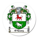 O'Leary Family Crest Round Car Magnet