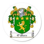 OMore (Moore-Leinster)-Irish-9.jpg Round Car Magne