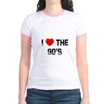 I * the 90's Jr. Ringer T-Shirt