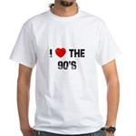 I * the 90's White T-Shirt